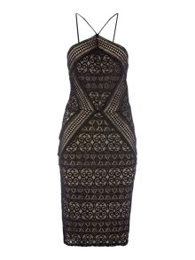 Lipsy Michelle Keegan Sleeveless Lace Bodycon Dress