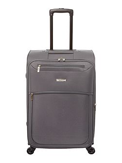 Oxford grey 4 wheel soft medium suitcase