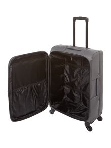 Linea Oxford grey 4 wheel soft medium suitcase