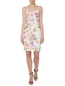 Lipsy Michelle Keegan Sleeveless Floral Bodycon Dress