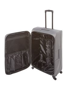 Linea Oxford grey 4 wheel soft large suitcase