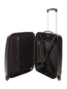 Linea Wave black 4 wheel hard cabin suitcase