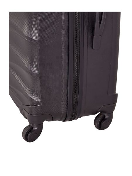 Linea Wave black 4 wheel hard medium suitcase