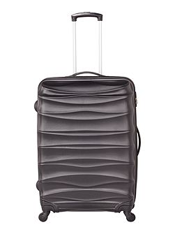 Wave black 4 wheel hard large suitcase