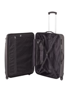 Linea Wave black 4 wheel hard large suitcase