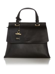DKNY Lexington black flapover tote crossbody bag