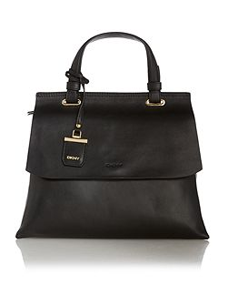 Lexington black flapover tote crossbody bag