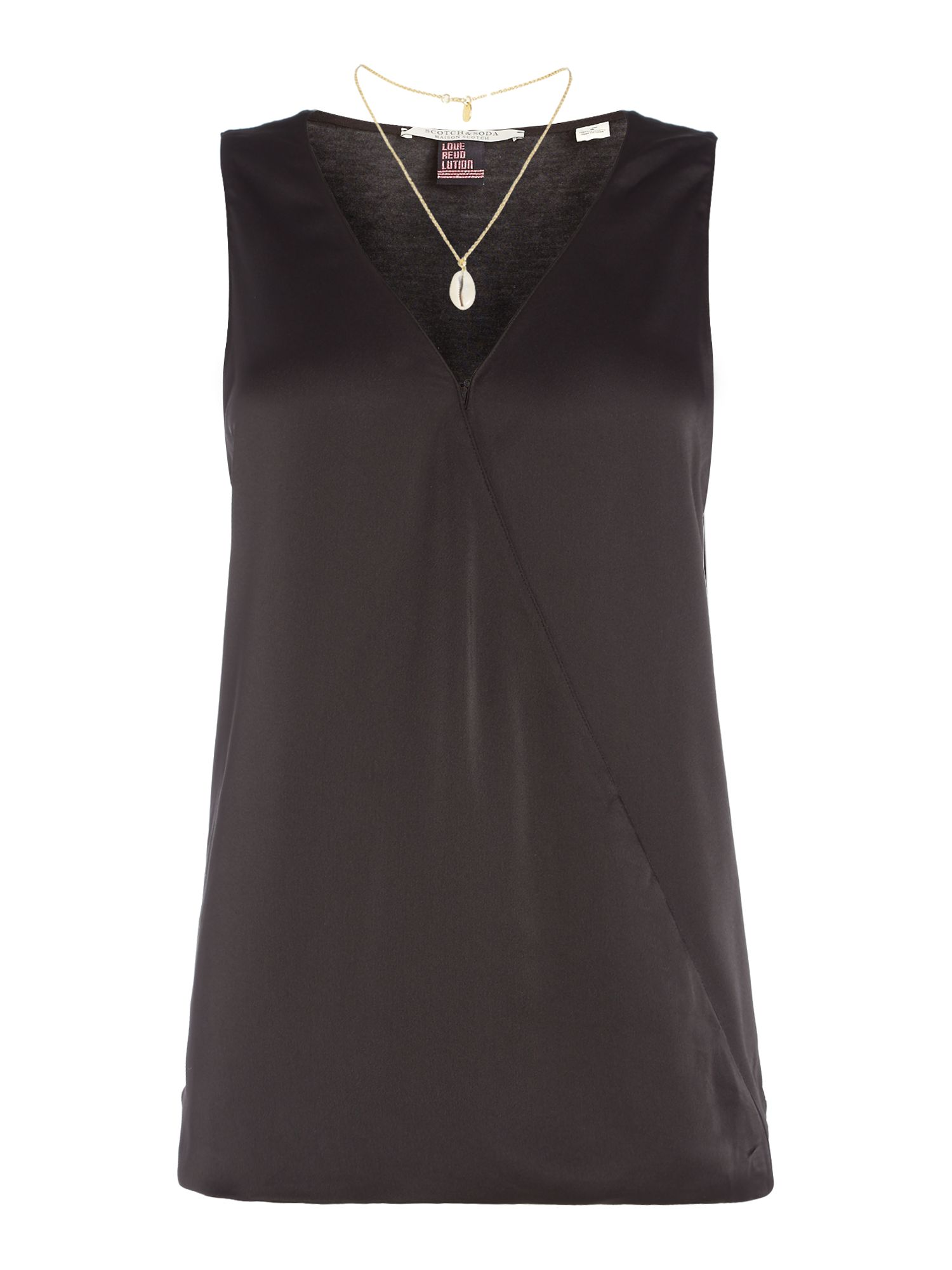 Oasis Luxe Wrap Blouse 46