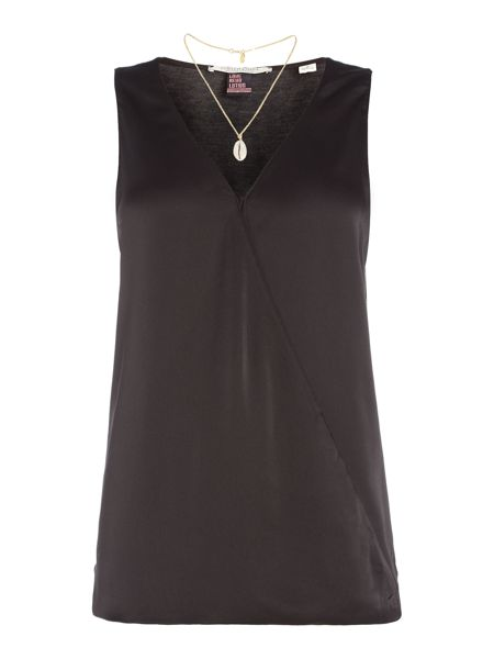 Maison Scotch Sleeveless wrap over top