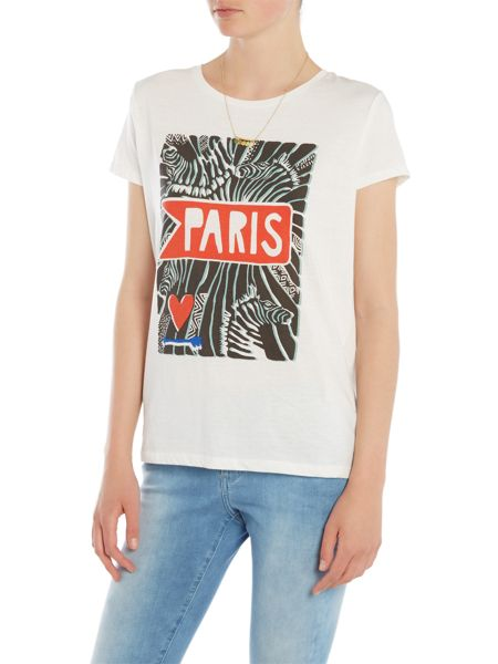 Maison Scotch Short sleeve love t-shirt