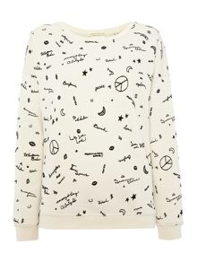 Maison Scotch Peace sweatshirt