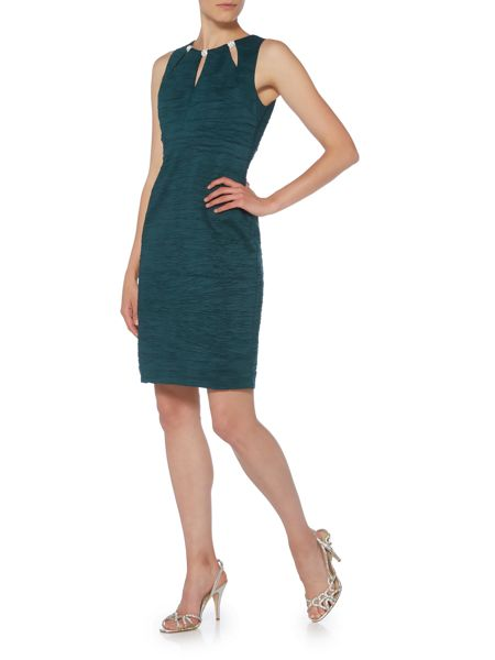 Eliza J Taffeta Keyhole dress