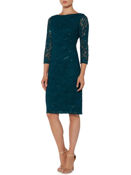 Eliza J All over sequin lace shift dress