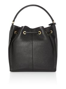 DKNY Black Bucket Bag