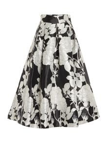 Eliza J Mikado monochrome print dress