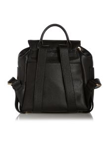 DKNY Black Meduim Foldover Backpack