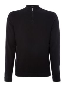 Hugo Boss 1/4 zip funnel neck knitted jumper