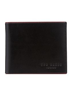 Raven Contrast Leather Bi-Fold Wallet