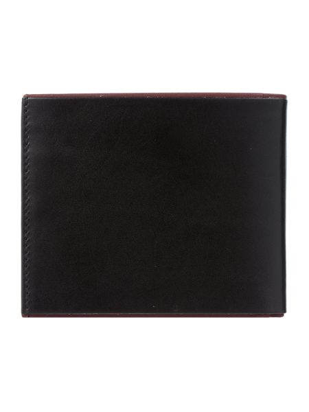 Ted Baker Raven Contrast Leather Bi-Fold Wallet
