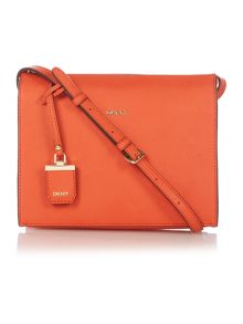 DKNY Orange Top Zip Crossbody