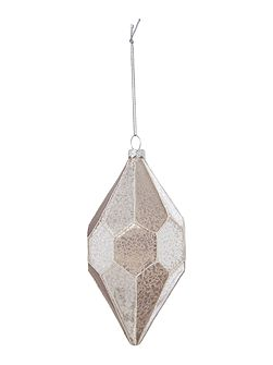 Geometric teardrop mercury glass decoration