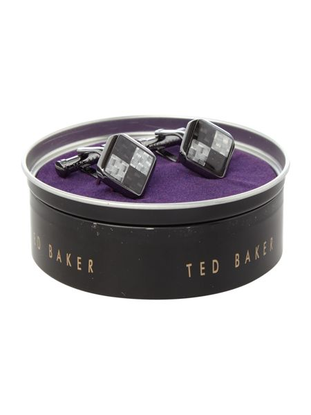 Ted Baker Cardbon Square Cufflink