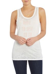Maison Scotch Burnout tank