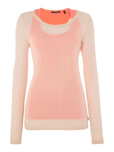 Maison Scotch Mesh knit with inner tank