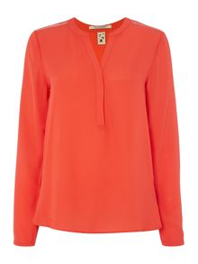 Maison Scotch Top with mesh inserts