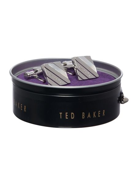 Ted Baker Squared Logo Text Cufflink