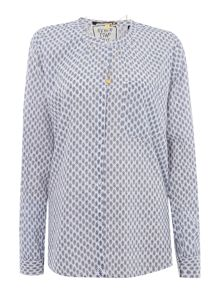 Maison Scotch Print cotton shirt