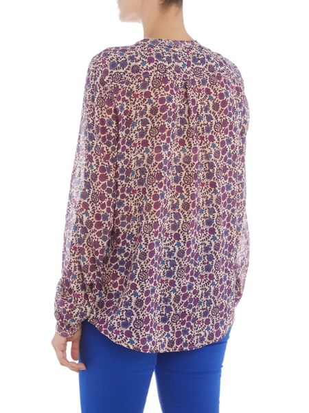 Maison Scotch Floral printed cotton shirt