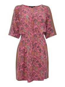 Maison Scotch Paisley tunic dress