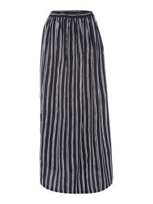 Maison Scotch Stripe maxi skirt