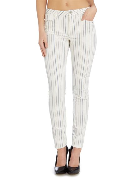 Maison Scotch Striped mid rise skinny fit trousers
