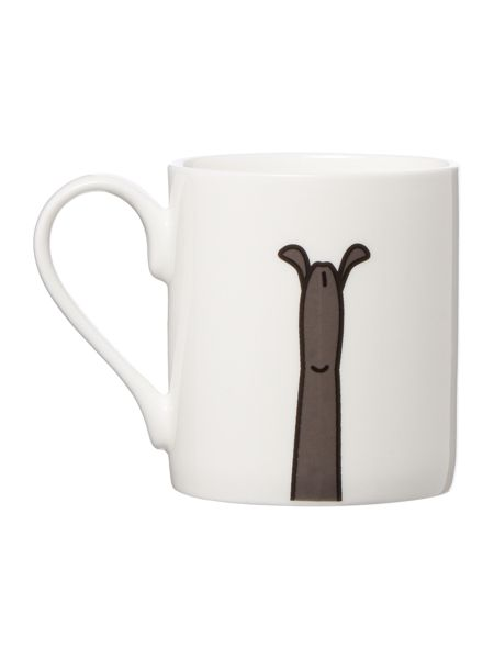 Tiny Grey Greyhound Mug