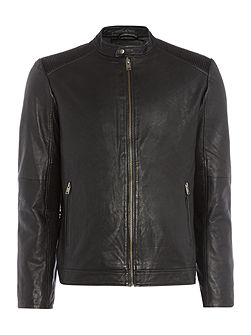 Sheffield Leather Biker Jacket