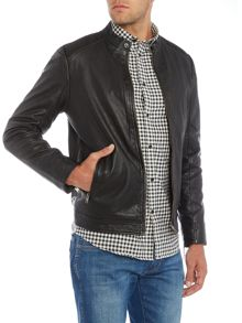 Selected Homme Sheffield Leather Biker Jacket