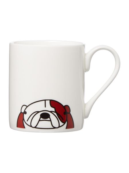 Tiny Grey Bulldog Mug
