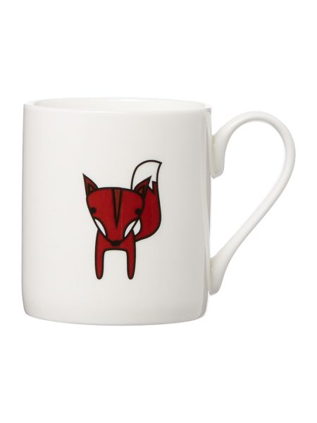Tiny Grey Fox Mug