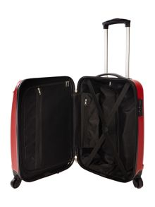 Linea Wave red 4 wheel hard cabin suitcase