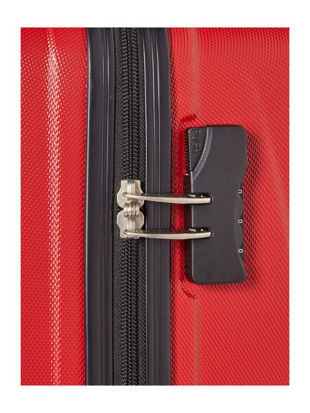 Linea Wave red 4 wheel hard medium suitcase