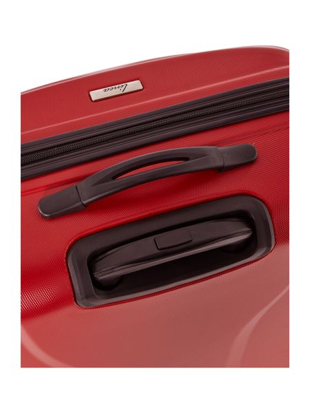 Linea Wave red 4 wheel hard large suitcase