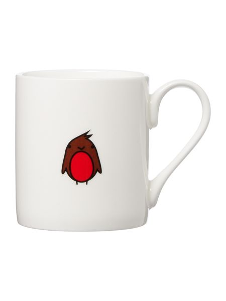Tiny Grey Robin Mug