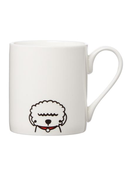 Tiny Grey Bichon Frise Mug