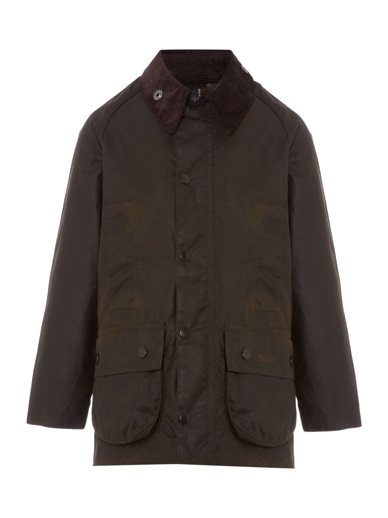 Barbour boys classic beaufort cord collar wax octer for Quality classic house of fraser