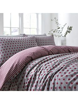 McCann star flannel duvet cover set
