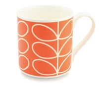 Orla Kiely Linear stem orange mug