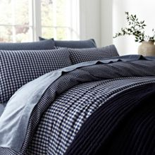 Linea Harris gingham flannel duvet cover set