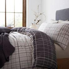 Gray & Willow Karlstad flannel duvet cover